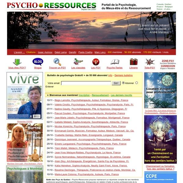 Bottin des psychologues et psychothérapeutes, psychologie et psychothérapie