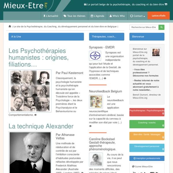 Mieux-Etre.org. Le portail de la Psychothérapie du coaching et du bien-être