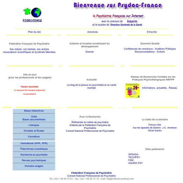 Psydoc-France : Fédération Française de Psychiatrie