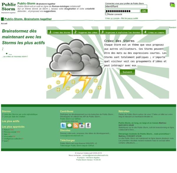 Public-Storm, Brainstorm together - Public-Storm