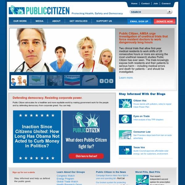 Public Citizen Home Page