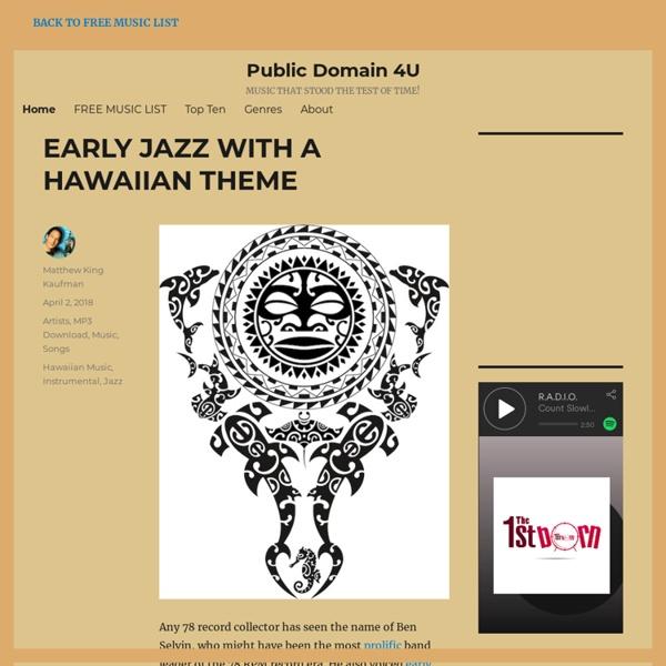 Public Domain 4U - Best in Public Domain MP3s