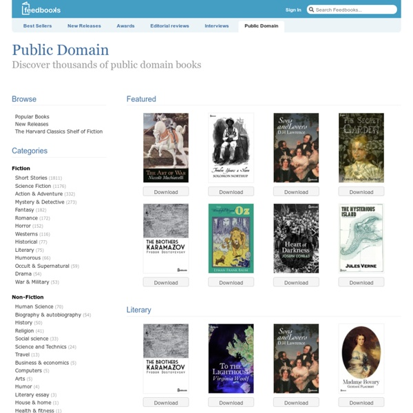 Feedbooks.com Public Domain