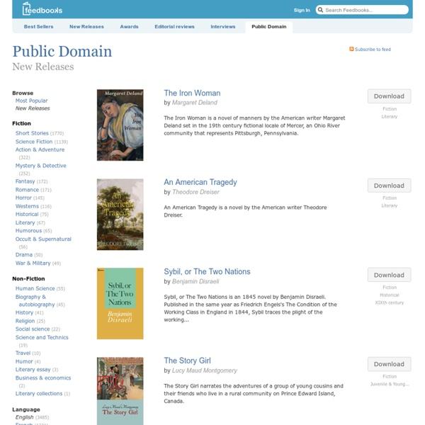 Livres du Domaine Public / Nouveautés