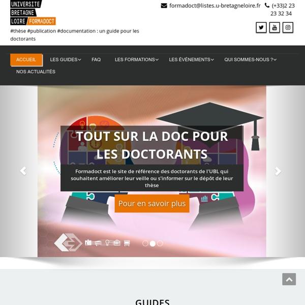 Formadoct – #thèse #publication #documentation : un guide pour les doctorants