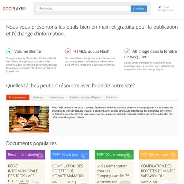 Nous vous présentons les outils bien en main et gratuits pour la publication et l'échange d'information.