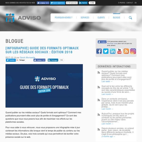 Le blogue interne - Porte ouverte sur les réflexions stratégiques de l'équipe d'Adviso