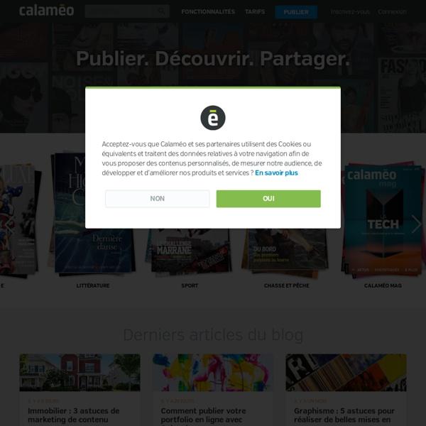 Calaméo - Page d'accueil