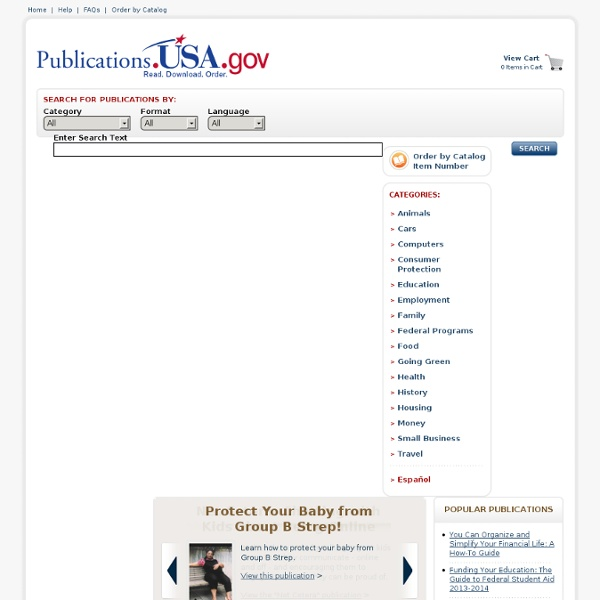 Publications.USA.gov Main Page