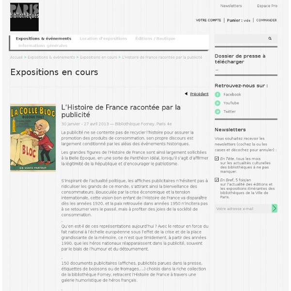 L'Histoire de France racontée par la publicité
