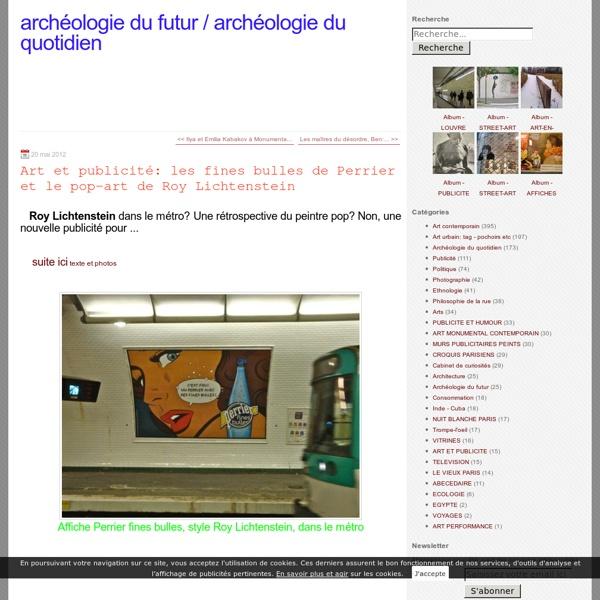 Art et publicité: les fines bulles de Perrier et le pop-art de Roy Lichtenstein