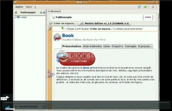 Publier un livre avec Book de SCENARI