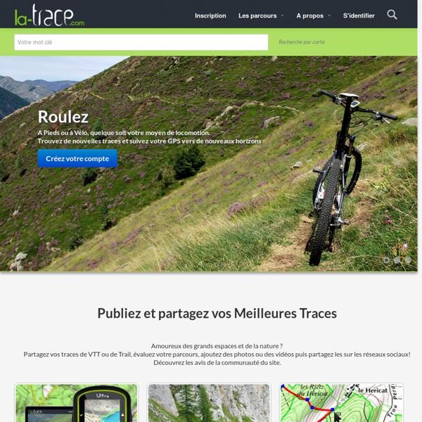 Publiez et partager vos traces GPS