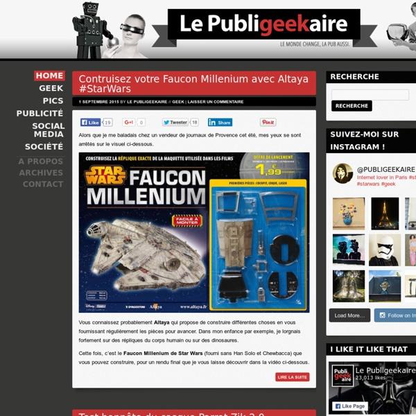 Le Publigeekaire : Blog publicitaire et geek