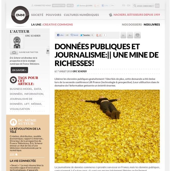 Données publiques et journalisme: une mine de richesses! » Article » OWNI, Digital Journalism