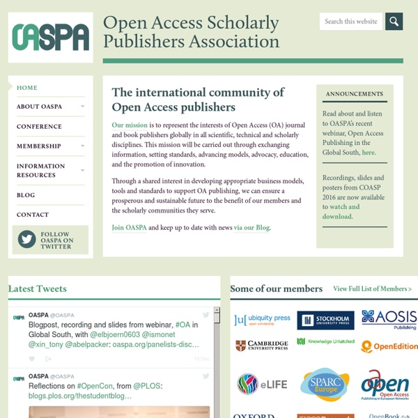 Open Access Scholarly Publishers Association