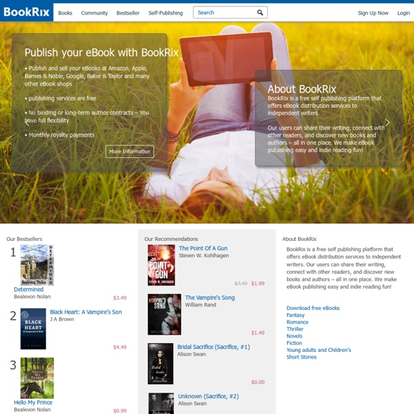 Read free books online - download eBooks & publish on BookRix.com
