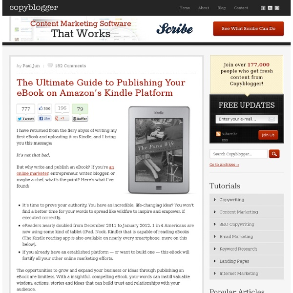 The Ultimate Guide to Publishing Your eBook on Amazon's Kindle Platform
