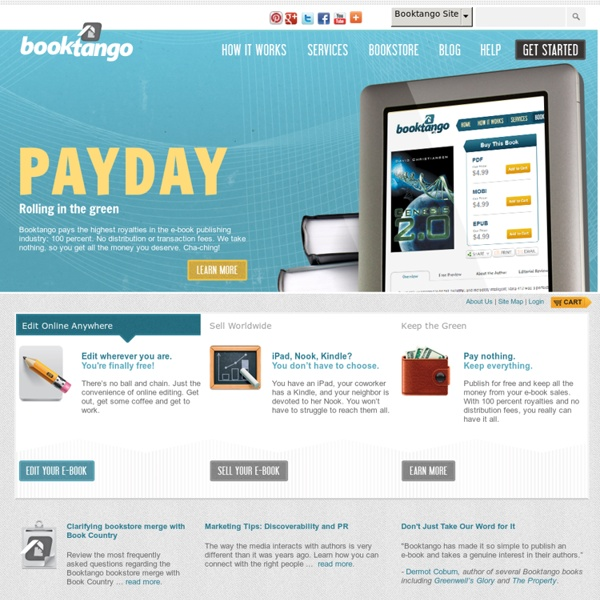 Free E-book Publishing Online - Booktango