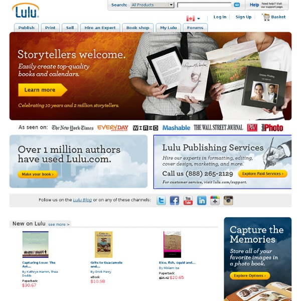Lulu - Self Publishing, Book Printing and Publishing Online
