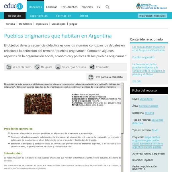 Pueblos originarios que habitan en Argentina