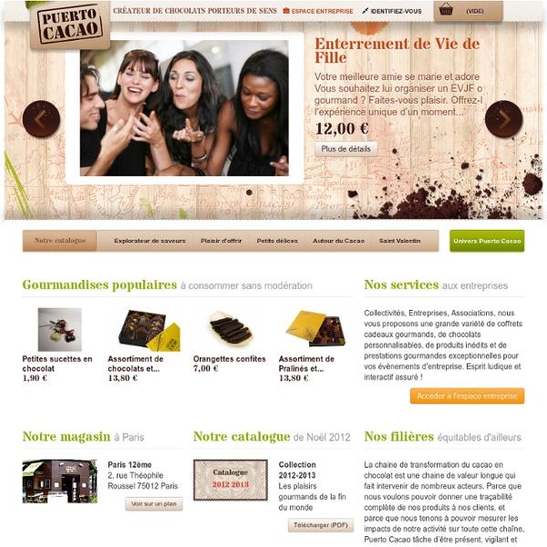 Puerto Cacao - Vente en ligne de chocolats porteurs de sens