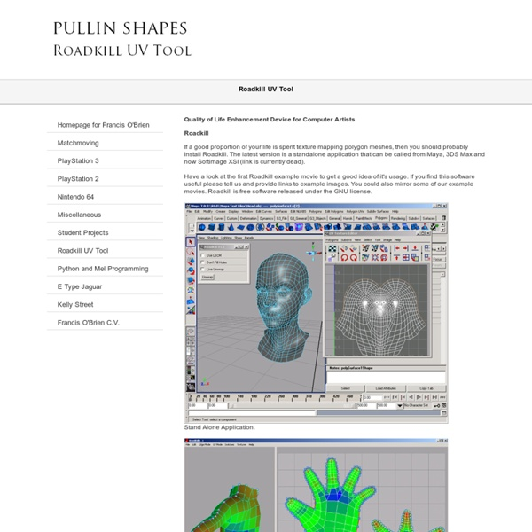 Pullin shapes - Roadkill UV Tool