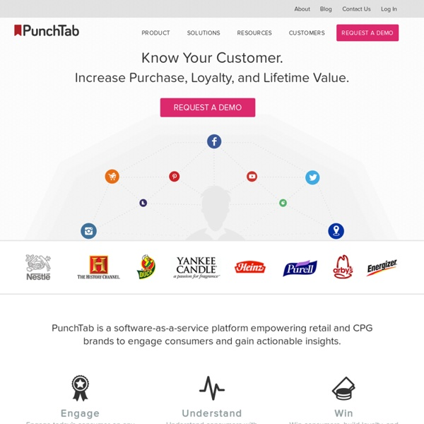 PunchTab : Loyalty programs, giveaways and rewards programs for websites, blogs, and mobile applications