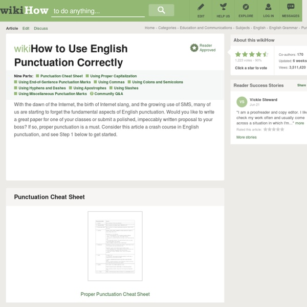 how to use punctuation in english