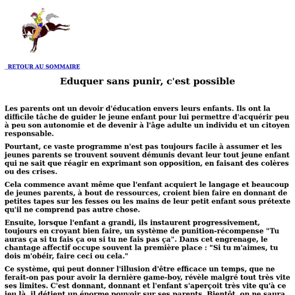 Eduquer sans punir, c'est possible