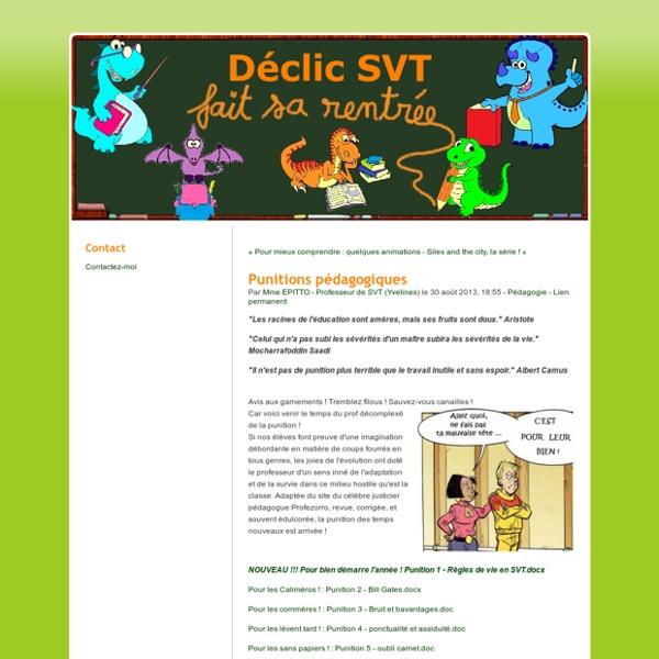 Punitions pédagogiques - Déclic SVT