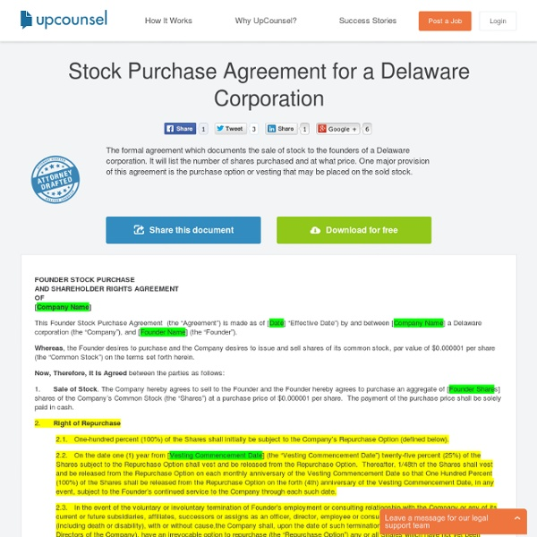 Need A Stock Purchase Agreement Free Download Here Pearltrees