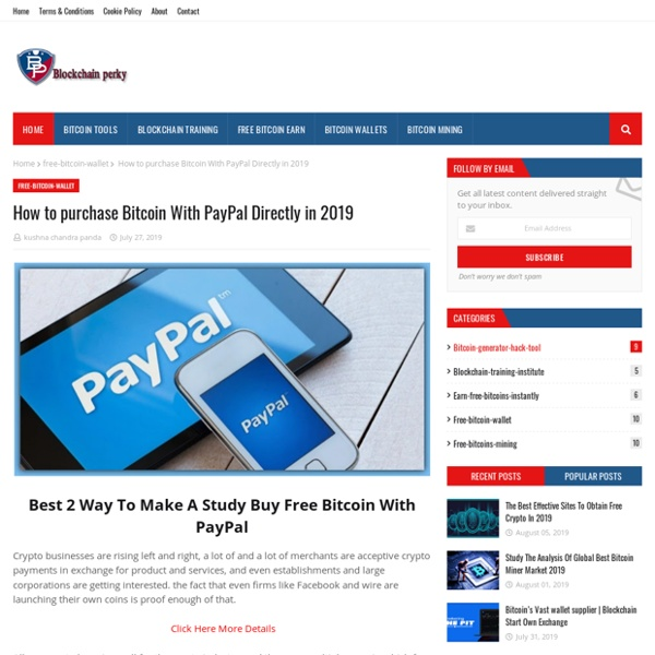 How to purchase Bitcoin With PayPal Directly in 2019