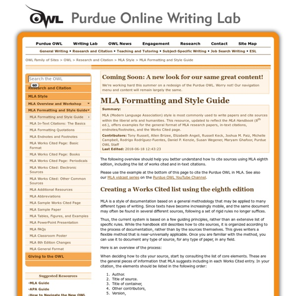 How To Quote In Mla: MLA Formatting And Style Guide