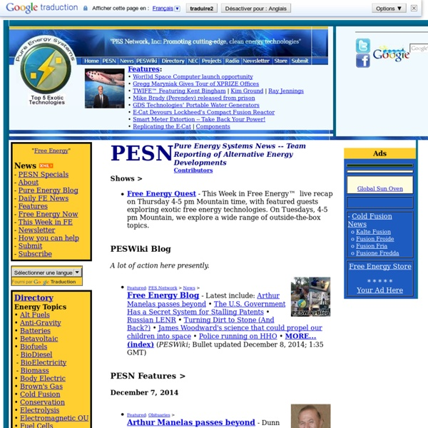 Pure Energy Systems News (PESN)