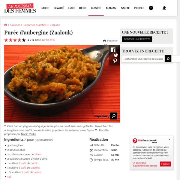 Purée d'aubergine (Zaalouk)