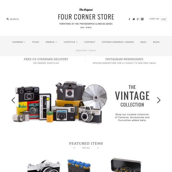Four Corner Store : Your store for all things Toy Camera — Welcome