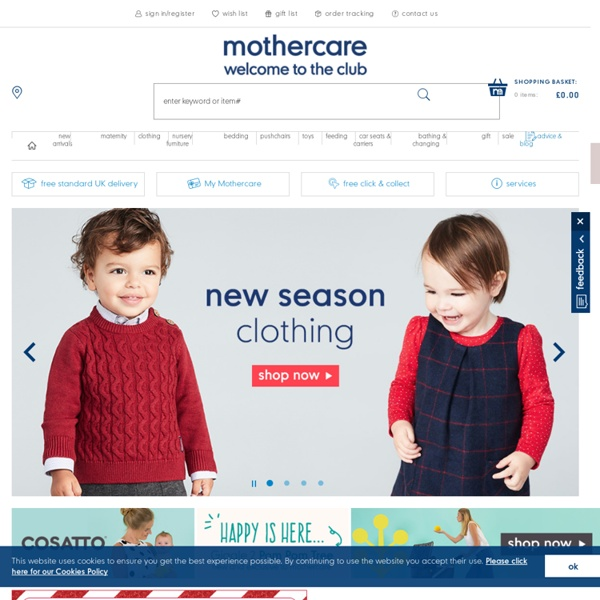 Pushchairs, Baby and Maternity Clothes from Mothercare