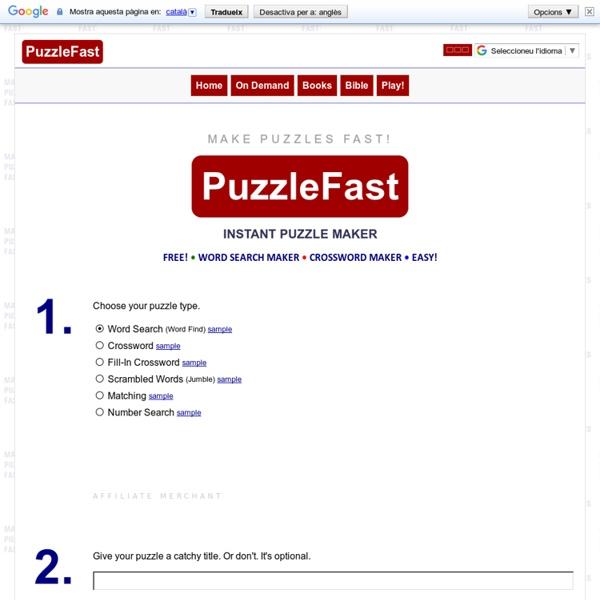 PuzzleFast Instant Puzzle Maker