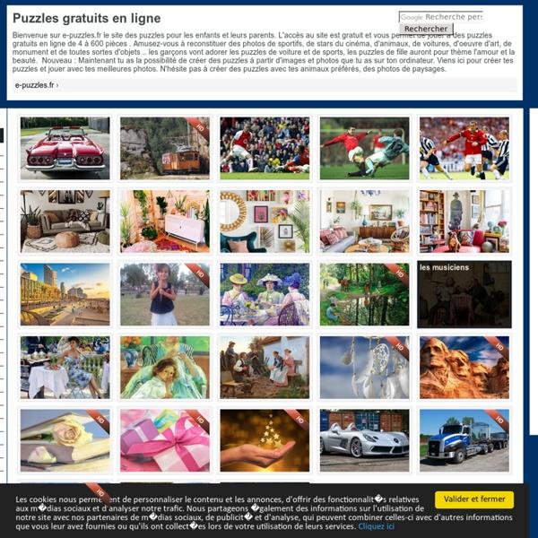 Puzzles gratuits sur e-puzzles.fr