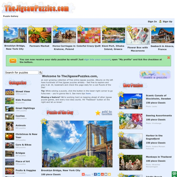 Free Jigsaw Puzzles - Jigsaw Puzzle Games at TheJigsawPuzzles.com - Play Free Online Jigsaw Puzzles