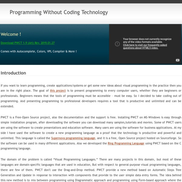 PWCT (Programming Without Coding Technology)