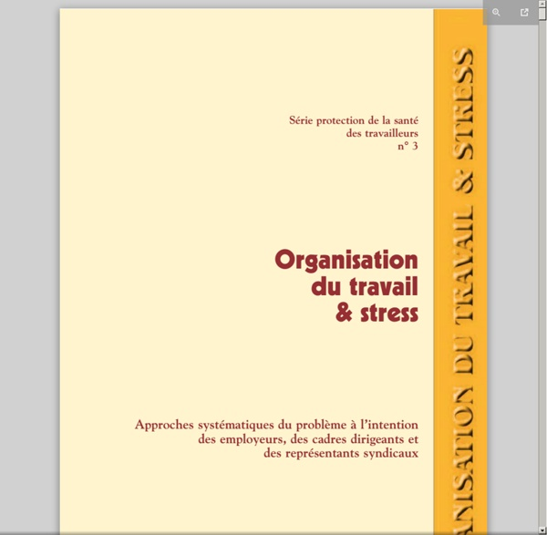 Organisation du Travail et stress