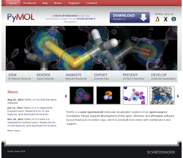 PyMOL Molecular Viewer - Home Page
