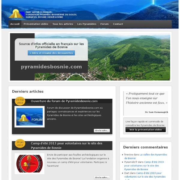 Pyramides de Bosnie - Source d'infos officielles en français sur les Pyramides de Bosnie