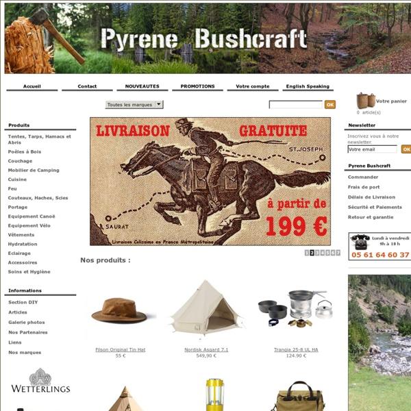 Pyrene Bushcraft, matériel pour le bushcraft et la rando nature