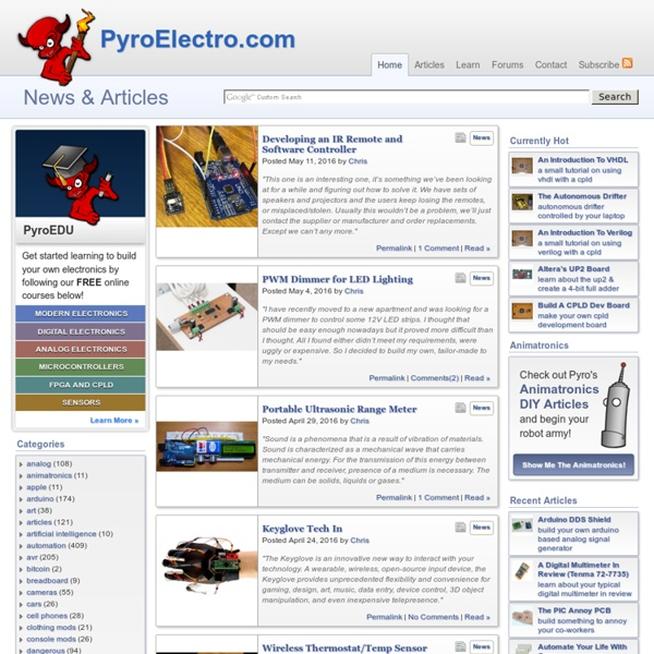 PyroElectro News, Projects & Tutorials