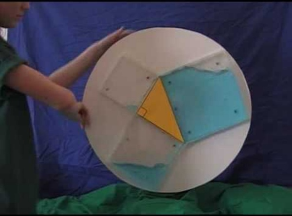 Pythagorean theorem water demo