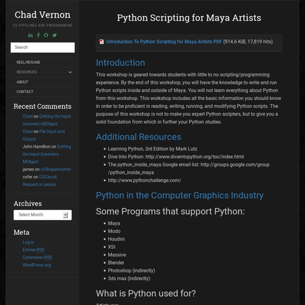 Python Scripting for Maya Artists