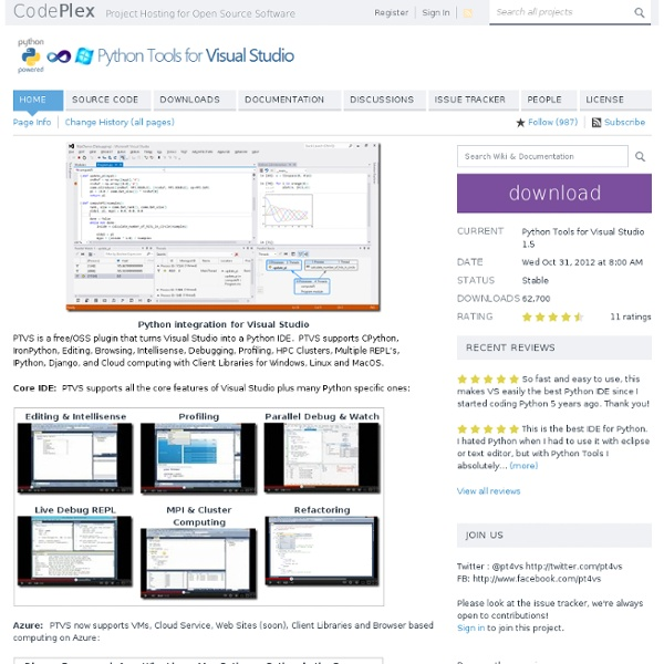 Python Tools for Visual Studio - Home